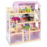 Best Choice Products Wooden Uptown Dollhouse Manufactured Wood in Brown, Size 32.25 H x 24.25 W x 11.75 D in   Wayfair SKY4314