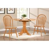 Birch Lane™ Elick 3 - Piece Drop Leaf Solid Oak Dining SetWood in Brown, Size 30.0 H in | Wayfair 126680C581D047D7BEE7D247F76D7834