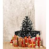 The Holiday Aisle® Tree w/ Star Topper & Umbrella Base Plastic in Black, Size 29.0 H x 25.5 W x 25.5 D in | Wayfair