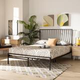 Latitude Run® Danyne Solid Wood Platform Bed Wood in Black, Size 56.0 W x 77.2 D in | Wayfair 01F75EB04BA0438EB17D83876628DDDF