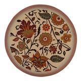 Red Barrel Studio® Audryanna Floral Hand Braided Spice Area Rug Jute & Sisal in Orange, Size 72.0 H x 72.0 W x 0.5 D in | Wayfair
