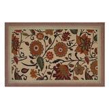 Red Barrel Studio® Audryanna Floral Hand Braided Spice Area Rug Jute & Sisal in Orange, Size 72.0 H x 48.0 W x 0.5 D in | Wayfair