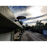 eLEDing 50-Watt LED Solar Power Dusk to Dawn Flood Light w/ Motion Sensor ( Pack of 1 ) in White, Size 8.0 H x 5.0 D in | Wayfair EE805W56-WP