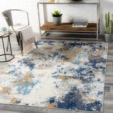 """Floral 7'10"""" x 10' Contemporary Abstract Bohemian Area Rug - Hauteloom"""