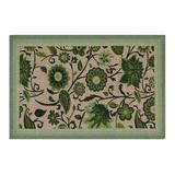 Red Barrel Studio® Audryanna Floral Hand Braided Sage Area Rug Jute & Sisal in Green, Size 72.0 H x 48.0 W x 0.5 D in | Wayfair