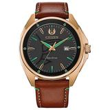 Star Wars Men's Yoda Brown Leather Watch by Citizen, Size: Large