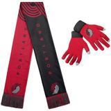 FOCO Portland Trail Blazers Glove & Scarf Combo Set