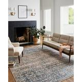 Chris Loves Julia x Loloi Jules Oriental Denim/Spice Area Rug Polyester in Brown/Gray, Size 66.0 H x 42.0 W x 0.13 D in | Wayfair