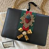 Gucci Bags | Gucci Chain Peony Medium Black Leather Bag | Color: Black | Size: Os