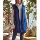 Milly Penzance Women's Outerwear Vests royal - Royal Blue Pocket Hooded Vest - Women & Plus