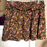 American Eagle Outfitters Skirts | Floral Print Skirt | Color: Black/Pink | Size: L