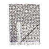 Eastern Accents Nolan 100% Cotton Throw Cotton in Black, Size 70.0 H x 50.0 W in | Wayfair 75P-TF-THO-26