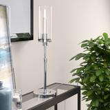 Frieda Polished Nickel Table Lamp with Clear Glass Shade - Hudson & Canal TL0541