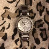 Michael Kors Accessories | Michael Kors Silvertone Bracelet Watch | Color: Silver | Size: Os