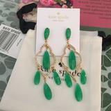 Kate Spade Jewelry | Kate Spade Green Lantern Chandelier Earrings | Color: Gold/Green | Size: Os