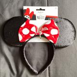 Disney Accessories | Minnie Mouse Ears | Color: Black/Red | Size: Os