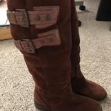 Nine West Shoes | Nine West Size 5 Tall Brown Suede Boots | Color: Brown | Size: 5