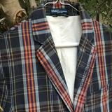 Polo By Ralph Lauren Suits & Blazers   Distressed Prl Sport Coat, 100% Cotton, Size 40r   Color: Blue/Gray   Size: 40r