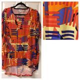 Lularoe Tops   Nwt Short-Sleeve, Highlow Lularoe Irma Shirt   Color: Black/Purple   Size: S