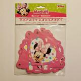 Disney Party Supplies | Disney Minnie Mouse Happy Birthday Banner 6.25 | Color: Pink | Size: 6.25 Feet