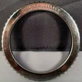 Burberry Jewelry | Burberry Italian Silver Gear Notched Bracelet | Color: Silver | Size: Inside Diameter Is 2 12