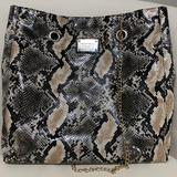 Nine West Bags   Nine West Snake Embossed Chain Handle Tote Purse   Color: Black/Tan   Size: 13.5l X 3.5w X 13.5h