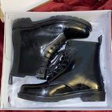 Michael Kors Shoes   Michael Kors - Black Combat Rain Boots   Color: Black/White   Size: 8