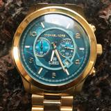 Michael Kors Accessories | Michael Kors Mens Watch | Color: Gold/Green | Size: Os