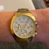 Michael Kors Accessories | Michael Kors Ladies Gold Chronograph Watch Mk5132 | Color: Gold | Size: Os