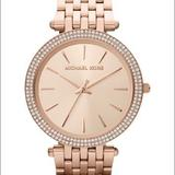 Michael Kors Accessories | Mk Darci Rose Gold Stainless Steel Bracelet Watch | Color: Gold/Pink | Size: 39mm