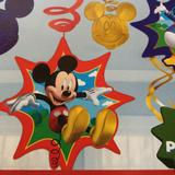 Disney Party Supplies   Mickey Mouse Club House Swirl Decorations   Color: Green/Red   Size: Os