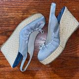 American Eagle Outfitters Shoes   6.5 Espadrille Wedges   Color: Black/White   Size: 6.5