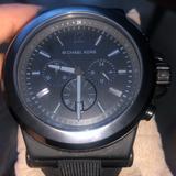 Michael Kors Accessories | Dylan Black Silicone Strap Men'S Watch | Color: Black | Size: Diameter: 47.9 Mm