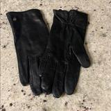Kate Spade Accessories | Genuine Leather Kate Spade Gloves | Color: Black | Size: Large