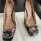Gucci Shoes | Gucci Dionysus Embroidered Pumps | Color: Green/Red | Size: 7.5
