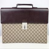 Gucci Bags | Gucci Supreme Canvasleather Briefcase | Color: Brown/Tan | Size: Os