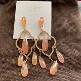 Kate Spade Jewelry | Kate Spade Lantern Gems Chandelier Earrings Nwt | Color: Pink | Size: Os