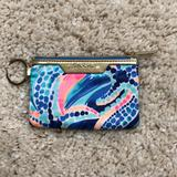 Lilly Pulitzer Accessories | 225lilly Pulitzer Key Id Card Case | Color: Blue/Gold | Size: Os