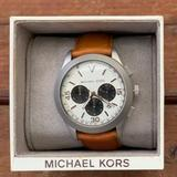 Michael Kors Accessories | Michael Kors Men'S Mk8470 Gareth Chronograph Watch | Color: Black/Tan | Size: Os