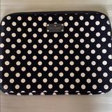Kate Spade Other | Kate Spade Polka Dot Laptop Sleeve 13 Inch | Color: Black/White | Size: 13 Inch