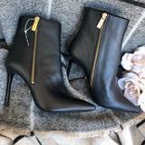Michael Kors Shoes | Michael Kors Boots Heels Pumps Black Leather 6.5us | Color: Black | Size: 6.5