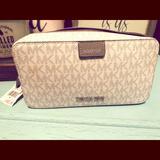 Michael Kors Bags | Michael Kors Cosmetic Bag | Color: White | Size: 10