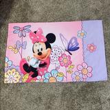 Disney Other | Disney Minnie Mouse Standard Pillowcase Pinkpurple | Color: Pink/Purple | Size: Standard