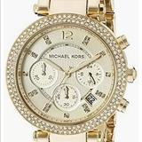 Michael Kors Other | Michael Kors Parker Chronograph Champagne Dial | Color: Red/Tan | Size: Os