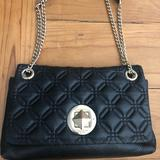 Kate Spade Bags | Kate Spade Quilted Handbag Black Leather | Color: Black | Size: 11wx7tall X 2 Deep Strap 1018