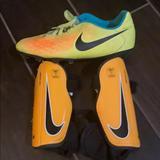 Nike Accessories | Nike Charge Soccer Shin Guards Kids Sz S | Color: Orange | Size: Osb
