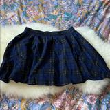 Zara Skirts | Nwot Zara Sexy Plaid Schoolgirl Skirt | Color: Black/Blue | Size: S