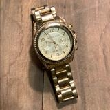 Michael Kors Accessories | Michael Kors Yellow Gold Diamond Watch | Color: Gold | Size: Os