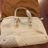 Gucci Bags   Gucci Large Shoulder Bag Almost New Authentic   Color: Tan/White   Size: Large Fit Laptop And More