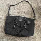 Coach Bags | Coach Madison Op Art Juliette Satchel Handbag | Color: Black | Size: Os